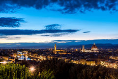 Firenza ως ενάρξεις ήλιων που θέτουν Στοκ Φωτογραφία
