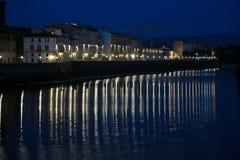 Firenze город освещает место ночи Стоковое фото RF