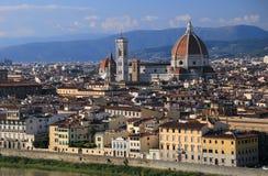Firenze на заходе солнца Стоковые Фотографии RF
