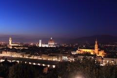 Firenze alla notte Immagine Stock Libera da Diritti