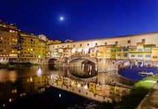 Firenze alla notte Fotografie Stock