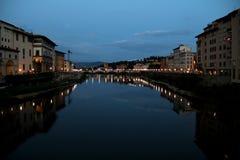 Firenze alla notte, Toscana, Italia Immagini Stock Libere da Diritti