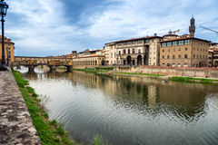 Firenze, Arno and Ponte Vecchio. Tuscany, Italy Royalty Free Stock Photo