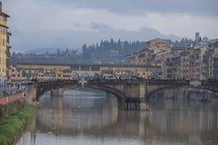 Firenze bagnata Fotografia Stock Libera da Diritti