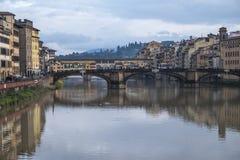 Firenze bagnata Fotografie Stock