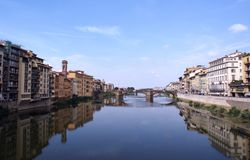 Firenze da Ponte Vecchio fotografie stock libere da diritti