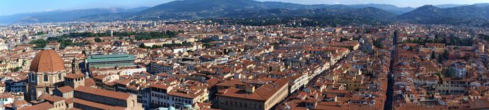 Firenze da sopra, l'Italia Fotografia Stock Libera da Diritti