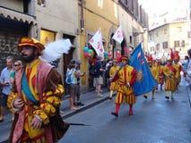 Firenze, desfile histórico Imágenes de archivo libres de regalías