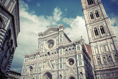Firenze Duomo. The Firenze Duomo with vintage colors in a cloudy day. with vintage colors in a cloudy day Stock Photos