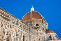 Firenze duomo på skymningen Royaltyfri Fotografi