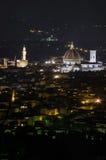 Firenze entro la notte Fotografie Stock