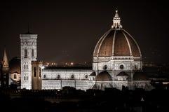 Firenze entro la notte Immagine Stock