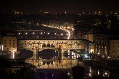 Firenze entro la notte Immagine Stock Libera da Diritti
