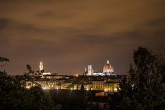 Firenze entro la notte Fotografie Stock Libere da Diritti