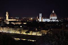Firenze Florence Piazzale Michelangelo night Royalty Free Stock Images