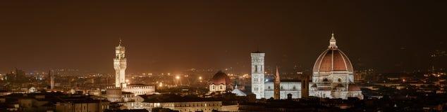 Firenze - Florencia por noche Fotografía de archivo libre de regalías