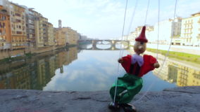 Firenze Italia che sogna burattino Pinocchio stock footage