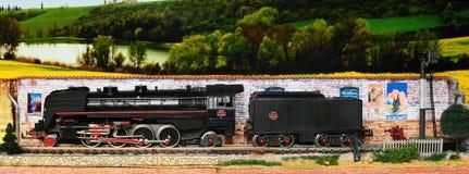Firenze, ITALIA - 18 marzo 2019: Modellismo ferroviario miniatura con i treni fotografia stock
