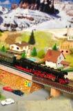 Firenze, ITALIA - 18 marzo 2019: Modellismo ferroviario miniatura con i treni immagini stock libere da diritti
