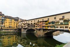 Firenze, ITALIA - ottobre 2017: Ponte Vecchio a Firenze, Italia fotografie stock libere da diritti
