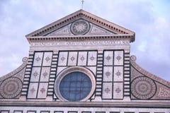 Firenze, Italia - 3 settembre 2017: Bella cattedrale di Santa Maria Novella nel tramonto fotografie stock libere da diritti