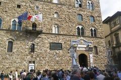 Firenze, Italia - 7 settembre 2016 Il vecchio palazzo Palazzo Vec immagini stock libere da diritti
