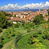 Firenze, Italia Vista dal delle Rosa (Rose Garden) di Giardino Fotografie Stock Libere da Diritti
