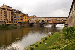 Firenze - Italy - Arno river and Ponte vecchio Royalty Free Stock Photo