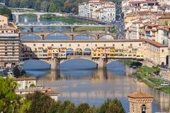 Firenze - Italy - Bridges and Arno river Royalty Free Stock Photos