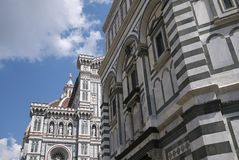 View of the Florence Baptistery stock image