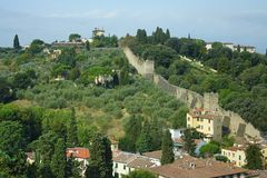 Firenze, la parete della città Fotografie Stock Libere da Diritti