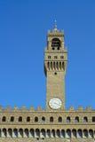 Firenze, la torretta di segnalatore acustico del Palazzo Vecchio Fotografia Stock