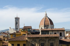 Firenze Landmarks. View of the Duomo from Palazzio Vecchio in the city of Florence, Italy Royalty Free Stock Photography