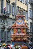 Firenze, lo scoppio di Carro, su pasqua domenica Fotografia Stock Libera da Diritti
