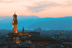 Firenze, Palazzo Vecchio Fotografia Stock Libera da Diritti