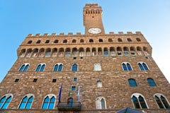 Firenze, Palazzo Vecchio, della Signoria della piazza. Fotografia Stock Libera da Diritti