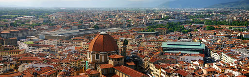 Firenze Panorama. Panoramic photograph of Florence, Italy Royalty Free Stock Photo