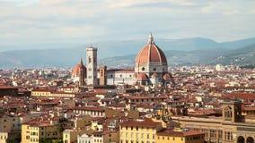 Firenze Panorama di vecchia città in Italia stock footage