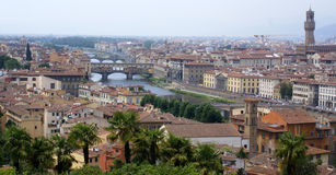 Firenze panorama view italian. A panoramic view of Florence, Tuscany, Italy Royalty Free Stock Photos