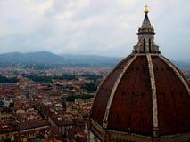 Firenze piovosa, l'Italia ed il duomo Fotografia Stock