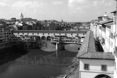 Firenze Ponte Vecchio Gold Bridge Stock Photo