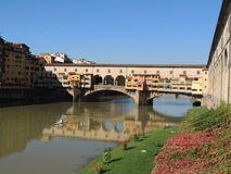 Florence Old Bridge. The Ponte Vecchio is one of the symbols of the city of Florence and one of the most famous bridges in the world.It crosses the river Arno in Stock Photos