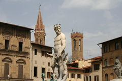 Firenze, Poseidon. Poseidon from Firenze, statue in the square Stock Image