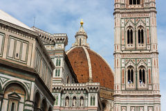 Firenze - Sławny wierza Dzwonnica Di Giotto, Duomo di Firenze Zdjęcie Stock