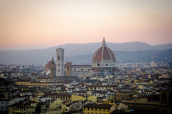 Firenze, Santa Maria del Fiore, Duomo during sunset Royalty Free Stock Images