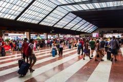 Firenze Santa Maria Novella järnvägsstation i Florence, Italien Royaltyfria Bilder