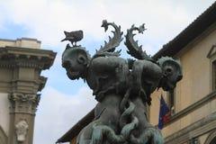 Firenze - scultura nella via Immagini Stock