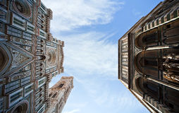 Firenze square cathedral view to the sky Stock Photography