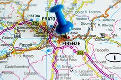 Firenze sulla mappa Fotografia Stock Libera da Diritti
