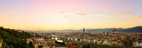 Firenze summer sunset Stock Photos